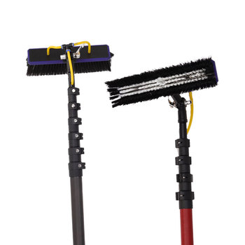 telescopic gutter cleaning brush vacuum cleaners kit carbon fiber telescopic pole for gutter cleaning business