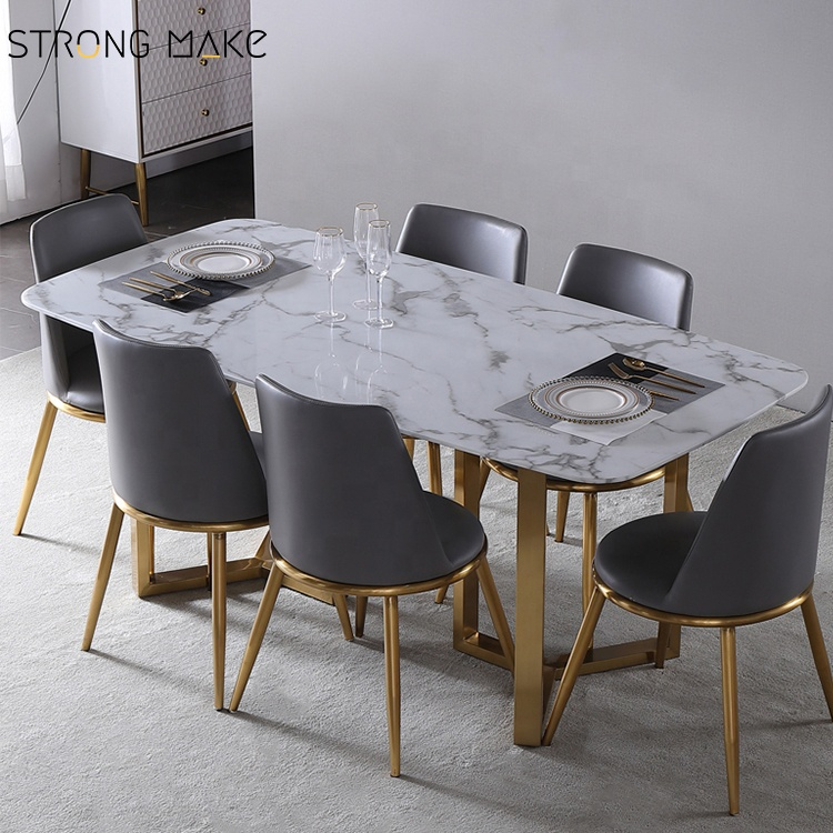 Italian White Marble Dining Table Nordic Rectangular Mesa Marmol Stainless Steel Legs 4 Seater Light Luxury Dining Table Buy Modern Marble Top Dining Table 4 Seater Dining Table Luxury Dining Table Set Product