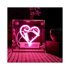 Heart Led Lights Light Heart Tube Rgb Case Sign Led Neon Lights Happy Birthday Custom Neon Light Decoration Neon Lights