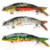 Wholesale 3D holographic eyes 8 segment fish lures multi jointed artificial swimbait