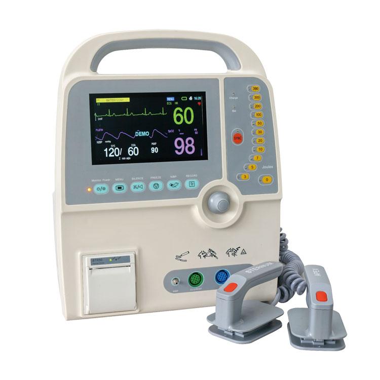 YS-9000C аптечка первой помощи, медицинский портативный дефибриллятор сердца с наружными лопатками