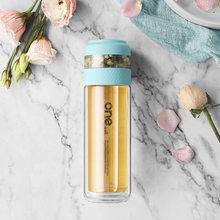 Стеклянная бутылка для воды с двойными стенками и ситечком для чая, портативная дорожная Душистая бутылка для заварки чая, посуда для напит...(Китай)