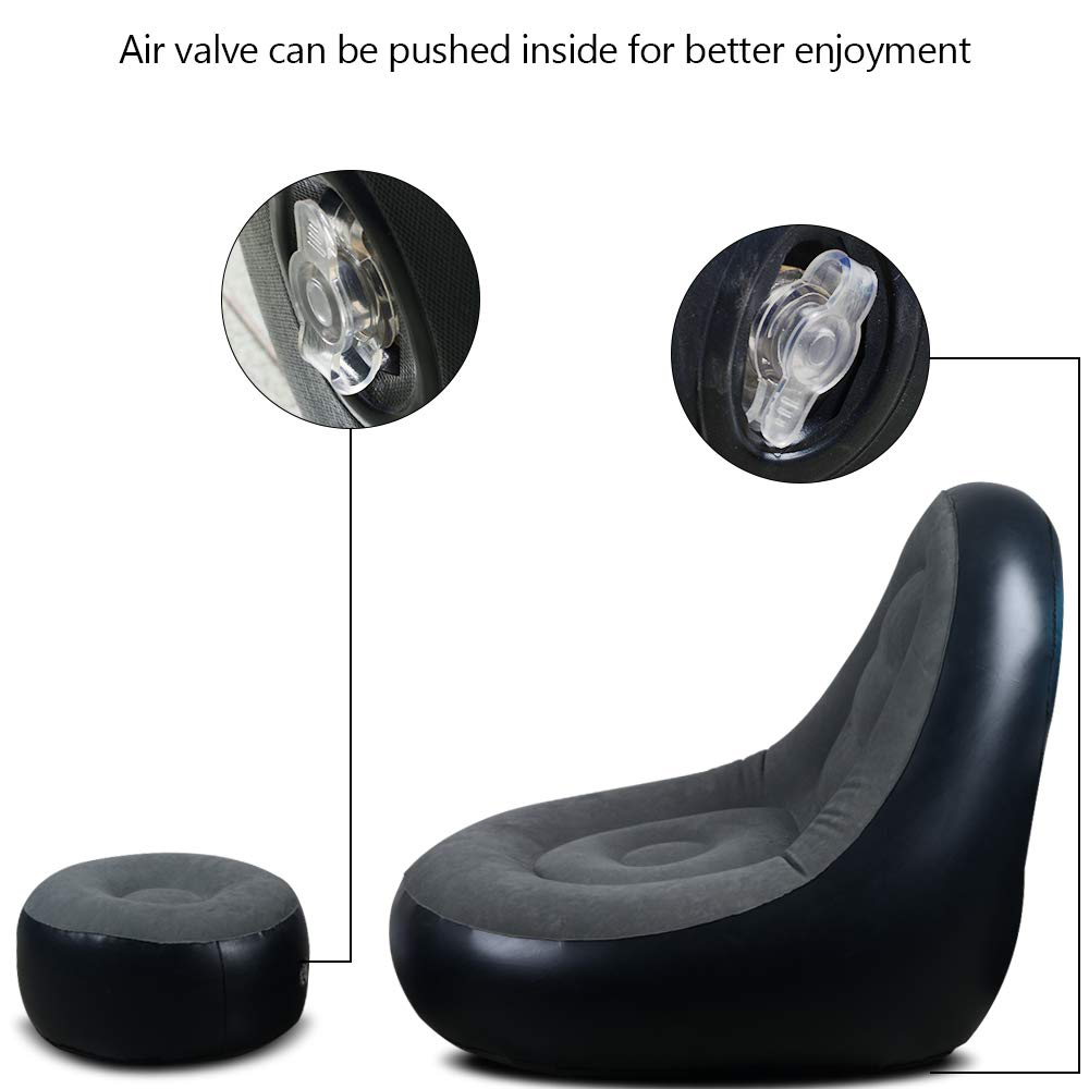 Custom Lazy Silla Inflables Outdoor Air Pump Lounge Sofa Bed Inflatable Movie Chair Couch Sofa Adult Relax Seat Set For Adult