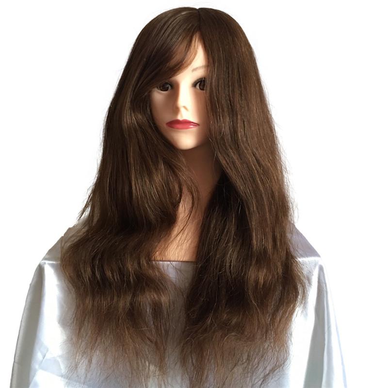 26 дюймовая коричневая голова манекена с плечами