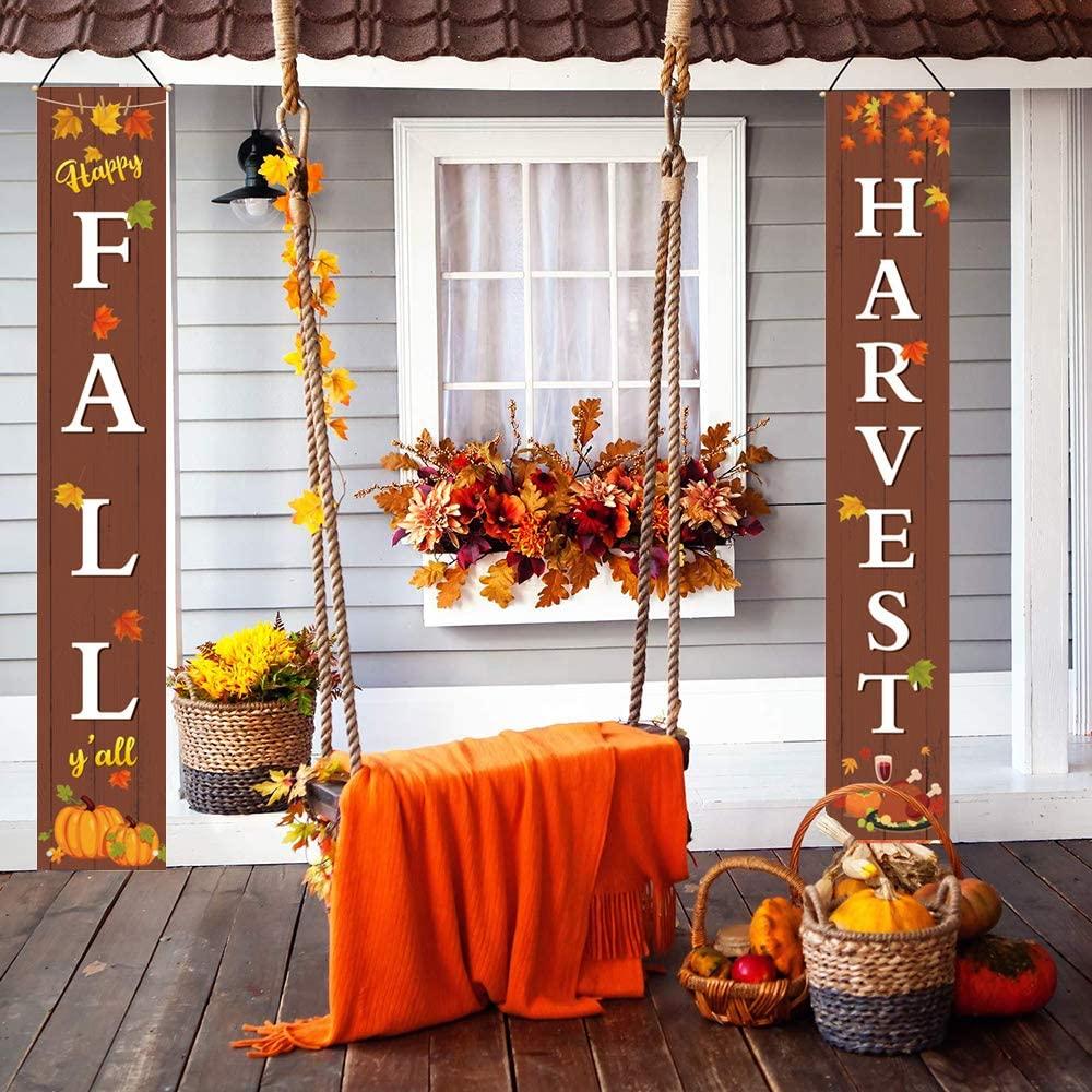 Подвесной баннер на День Благодарения, Декор дверной рамы, двусторонняя Вешалка, парная коллекция, Осеннее праздничное украшение, товары для мероприятий и вечеринок