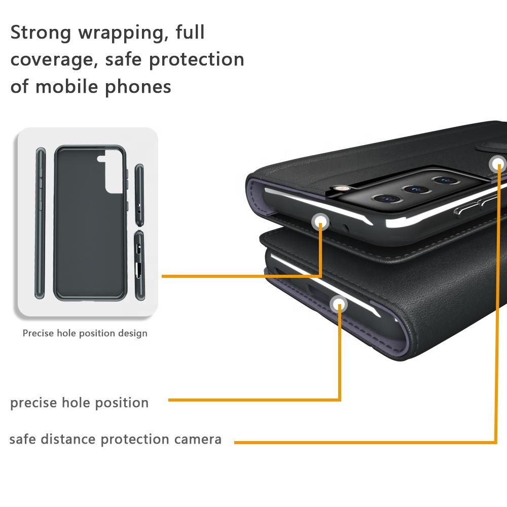 Модный защитный Новый Ударопрочный чехол-бумажник и чехол из искусственной кожи для мобильного телефона Samsung galaxy s21