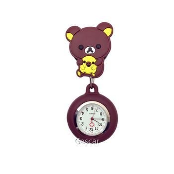 Lovely Cartoon Gift Hanging Nurse Watch Cute Doctor Pocket Watch Strap Can Adjustable Nurse Pin Watch