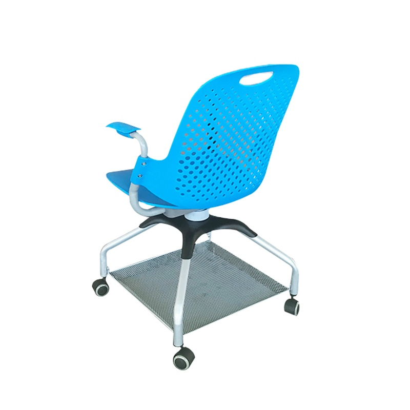 480*530*900mm Size Stacking Classroom Floor Chair With Foldable Writing Tablet