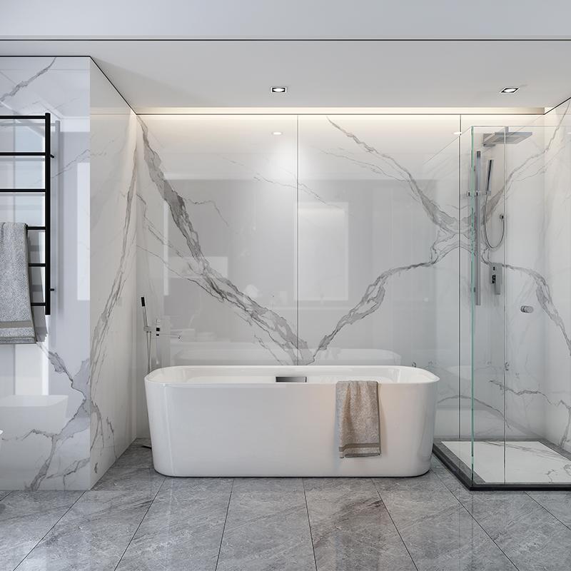 China Marble Bathroom Tiles Full Polished Glazed Porcelain Floor Tiles Buy Polished Porcelain Floor Tile Porcelain Floor Tiles Bathroom Tiles Product On Alibaba Com