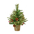 2020 Flocked Pre Lit Collapsible Table Christmas Tree With Decor Flashing Led Lights Included