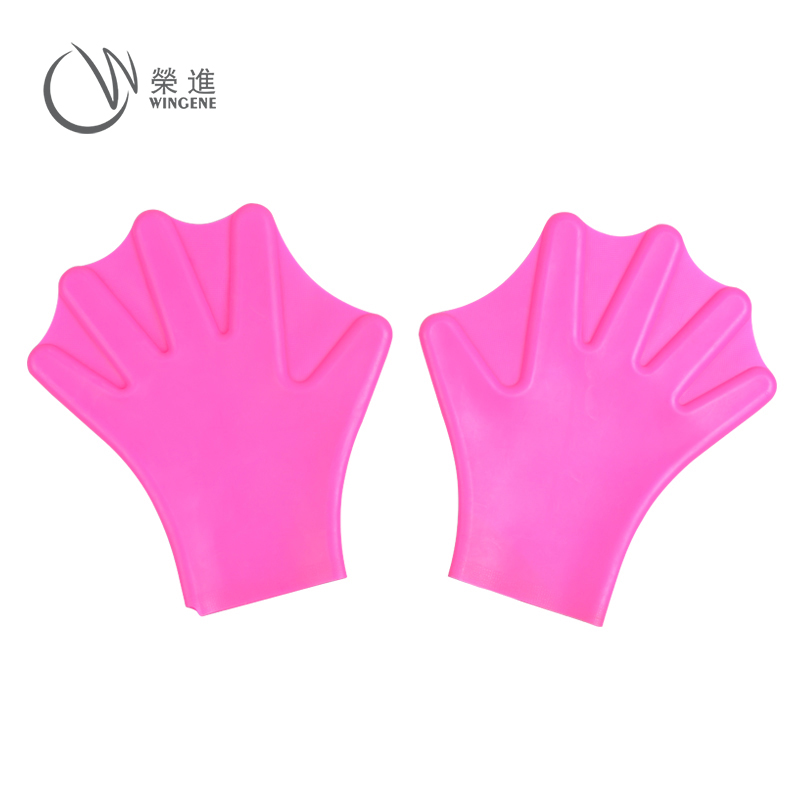 Factory Outlet Swim Training Finger Webbed Silicone Swimming Gloves for kids and adults