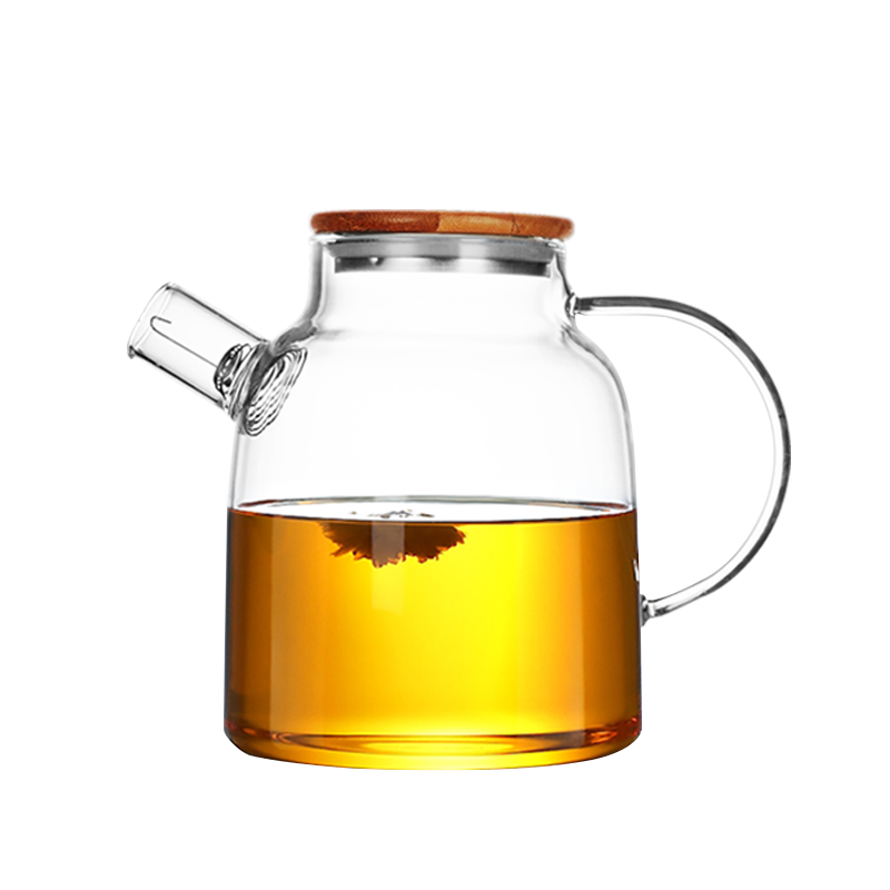 Hot Selling Glass Tea Pot Set Heat Resistant Theiere Tetera Glass Teapots With Bamboo Lid