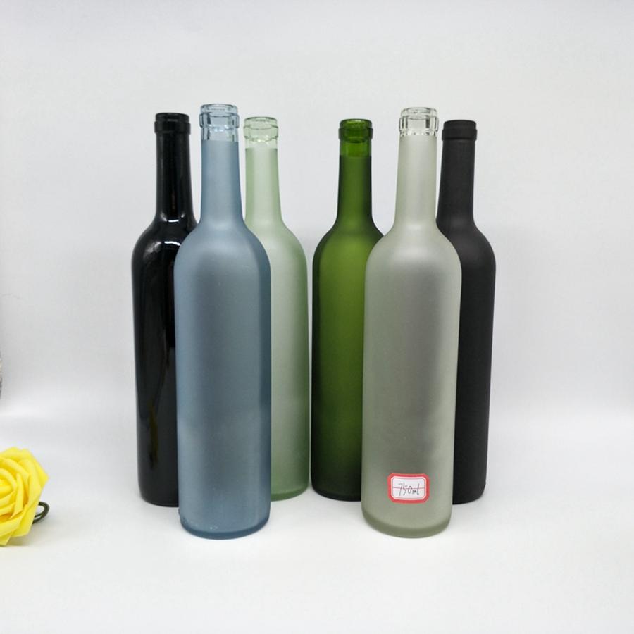 Бутылка для водки Экстра флакон матовый Янтарный синий зеленый черный и матовый черный пустой серый гусиный матовый флакон 500 мл 750 мл