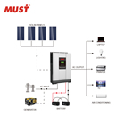 MUST Factory Off Grid Solar Hybrid inverter 1KVA 3KVA 5KVA PV1800 mppt 80a solar energy system for home use