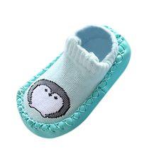 Детские Носки с рисунком животных для новорожденных, нескользящие носки для маленьких мальчиков и девочек, тапочки, теплые зимние ботинки д...(China)