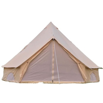 All season Waterproof Family Clamping Big Camping Luxury Canvas Bell Tent