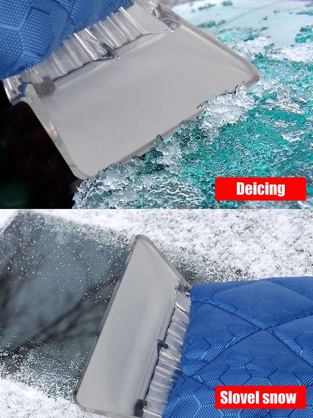 Waterproof Warm Non-slip Blade Winter Snow Removal Ice Tool Non Scratch Car Window Cleaning Scraper
