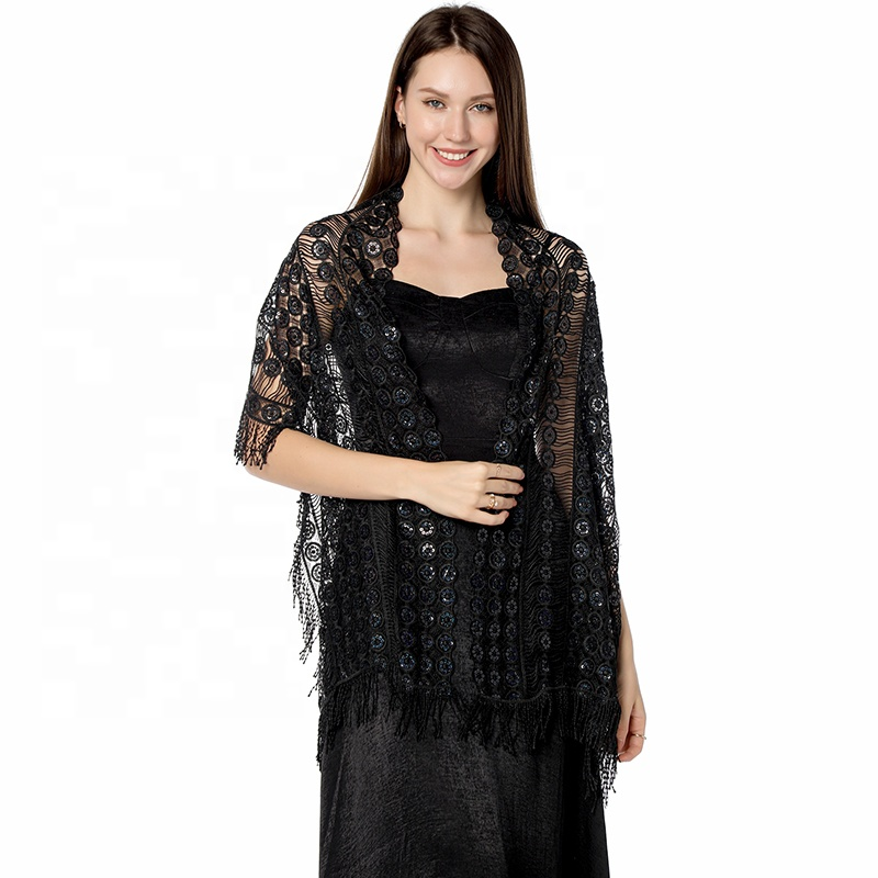 Elegant Bridal Bridesmaid Sequin Shawl for Wedding and Party High Quality Evening Dress Wraps