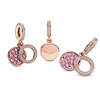 Pink Disc Double Dangle Charm