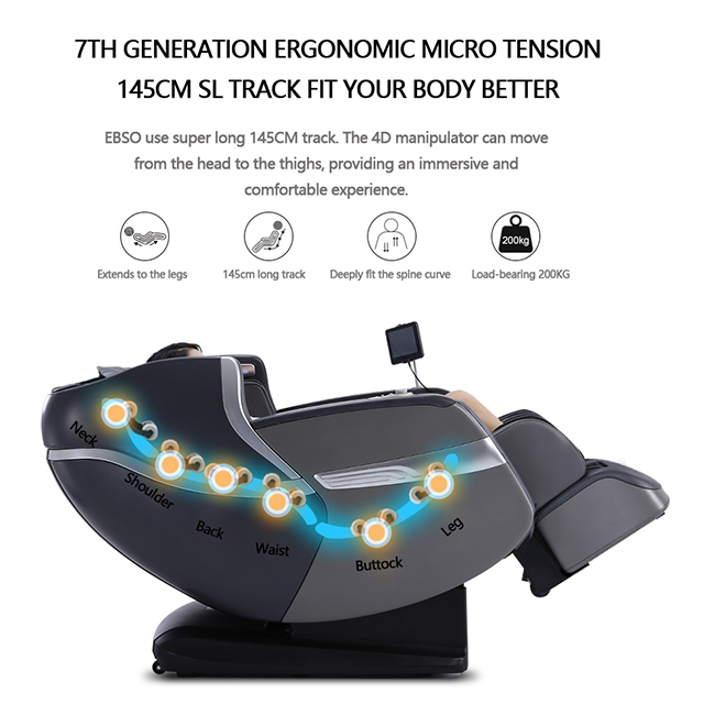 4d  Massage Chair Luxury Zero Gravity Foot Spa Heating Airbags Office Chair