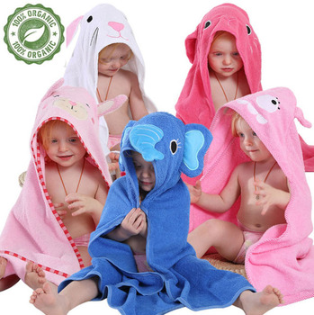 High Hope Hot sale factory direct bamboo hooded baby bath towel with animal pattern