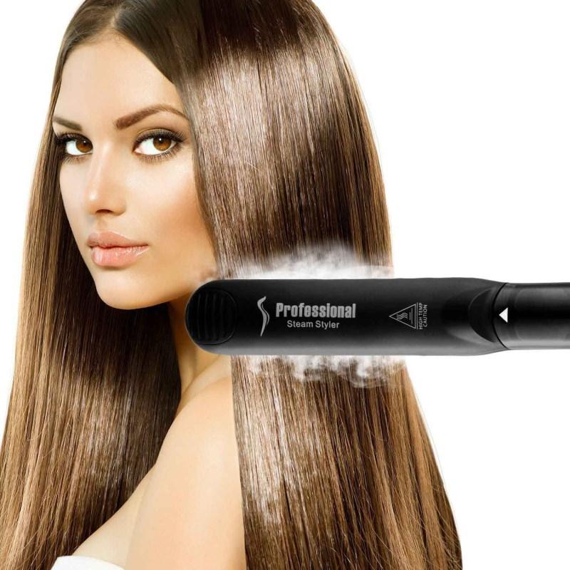 Профессиональная Нейл-арт Краска Мокрый Сухой Быстрый стайлер для волос выпрямитель для волос 110-220V Напряжение жира Железный паровой выпрямитель для волос