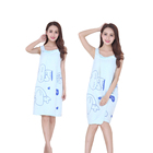 Beauty Towel Wholesale Customized Beauty Microfiber Women Bath Dress Towel Wearable Bath Robe Towel