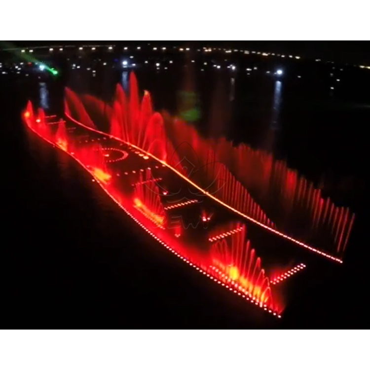 Lake/sea floating music fountain water show Large Music Dancing Water Feature River Fountain