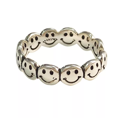 Vintage Ancient Silver Color Happy Smiling Face Open Rings For Women Punk  Hip Hop Adjustable Ring Fashion Jewelry - Buy Vintage,Fashion  Jewelry,Adjustable Ring Product on Alibaba.com