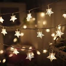 5 м 20 светодиодный 220 В ЕС штекер светодиодный Рождественский звезда Волшебные гирлянды свет гирлянды открытый/закрытый для рождественские ...(Китай)