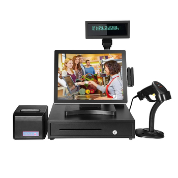 Android Cashier 15'' Touch Screen System Sale Cash Register Terminal Credit Card Pos Machine With Printer