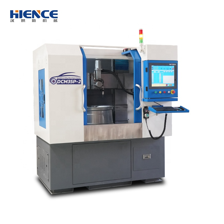 HIENCE fully automated vertical alloy wheel repair lathe for sale DCM35P-2