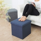 Furniture Multi-functional Folding Furniture Cotton And Linen Storage Stool Sorting Cloth Storage Bench Chair