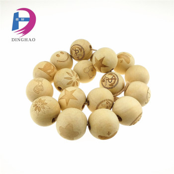 big wooden rosary beads with face