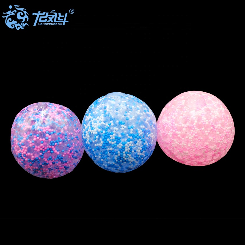 7CM TPR Soft DNA Gel Filled Stress Ball Grouting Filled Squeeze Bead Ball for Stress Relief