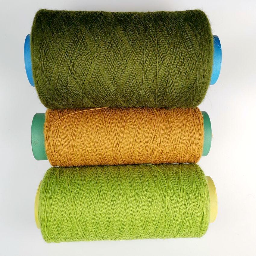 Customize on cones rug carpet wool yarn