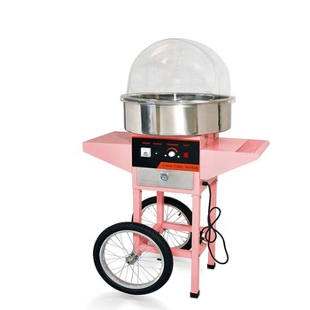 candy floss making machine with cart / Fairy floss maker/ candy maker for sale