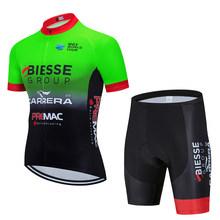 2020 BIESSE Pro Team летний комплект Джерси для велоспорта, одежда для велоспорта, дышащая мужская рубашка с коротким рукавом, велотренажер, шорты 20D ...(China)