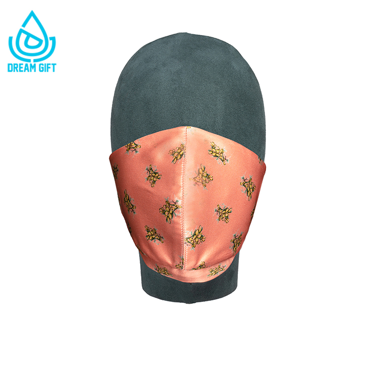 wholesale custom satin silk facemask reusable luxury custom face layer