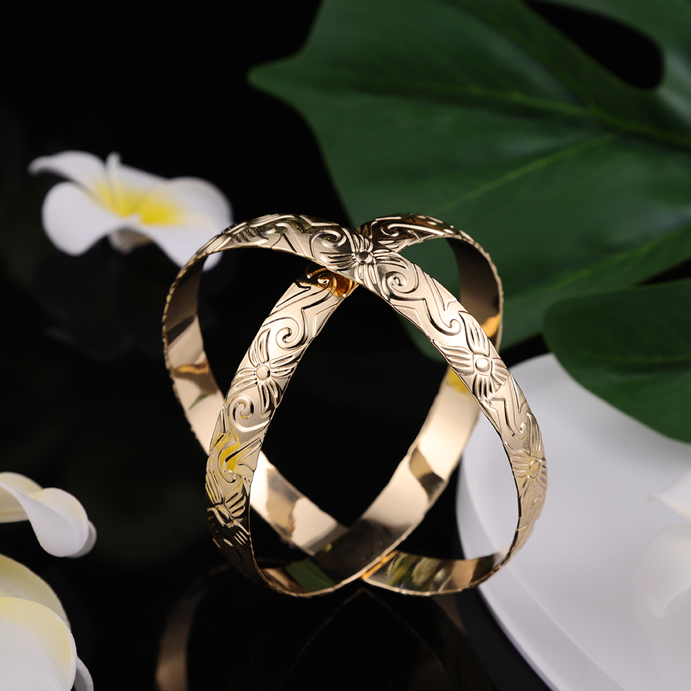 Cring CoCo  Gold Plated Copper Bangles Samoan hamilto gold Bracelets polynesian Bracelet jewelry hawaiian Jewelry Wholesale