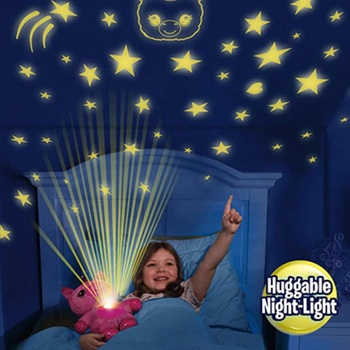 TY8035 starry belly dream Children's cartoon soothing music recording Plush Doll star dream projection lamp