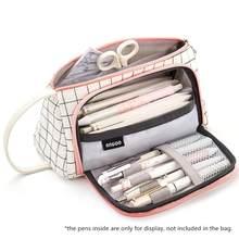 Сетчатый Чехол-карандаш Angoo [Special], сумка для хранения в клетку с несколькими слотами, большой карман-органайзер для канцелярских товаров, ко...(Китай)