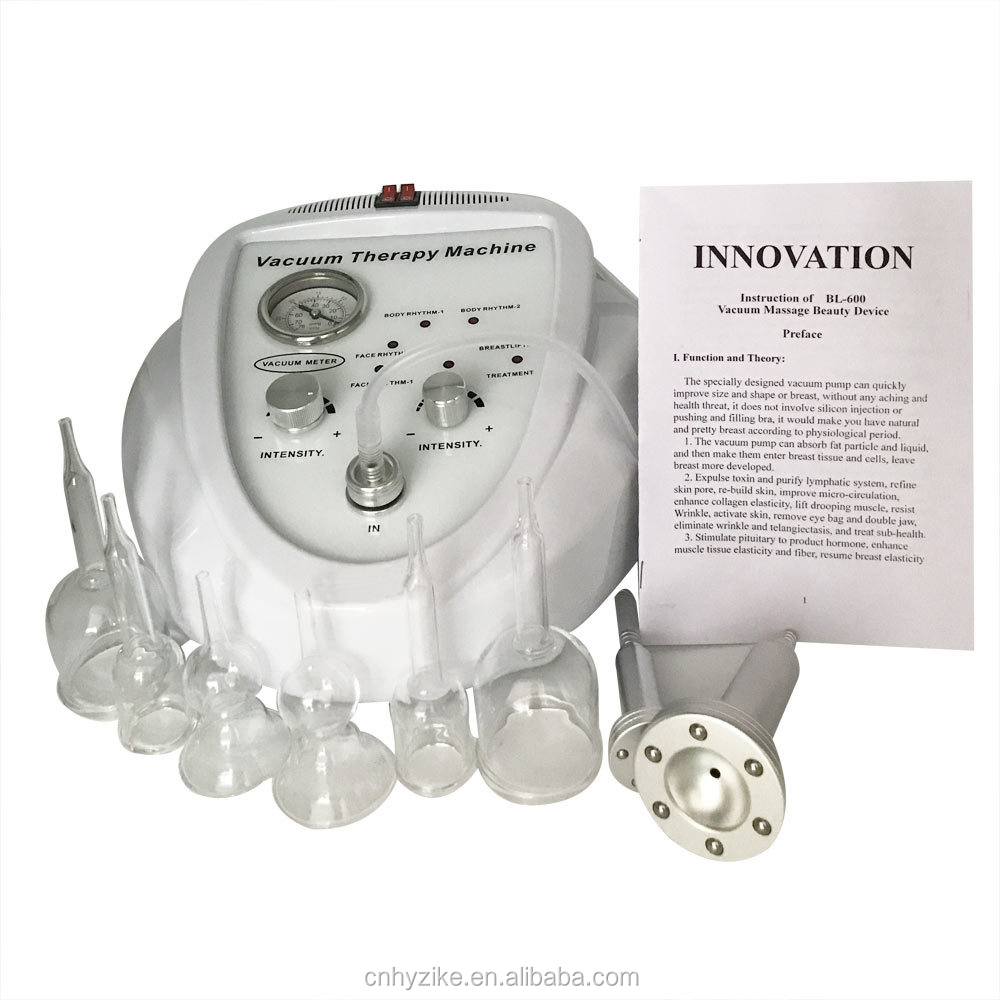 Most Effective Women Buttocks Cup Vacuum Breast Enlargement Therapy Machine
