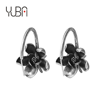 925 Silver Cold Wind Palace Ancient Style High Quality Rose Flower Earrings
