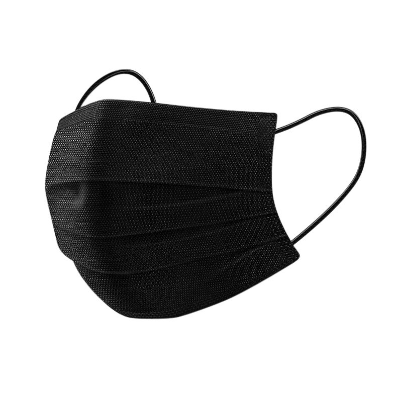 Black Face Mask 3 ply Disposable 3 layer Facemask - KingCare   KingCare.net