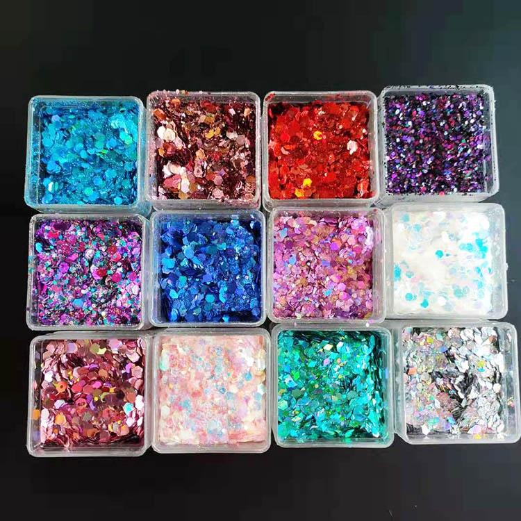 Fast delivery glitter in square bottles square glitter shaker