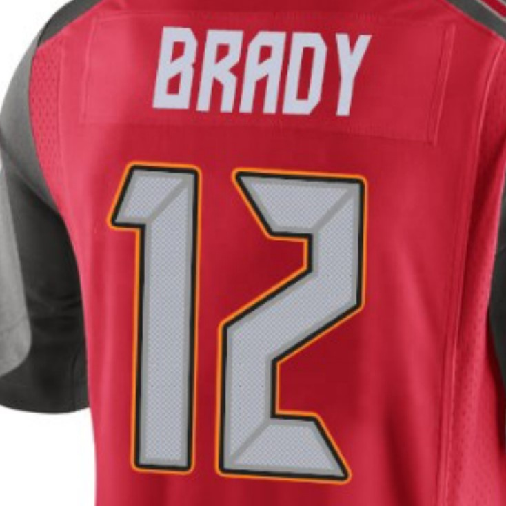 Tom Brady Red 2020 Best Quality Stitched American Football Jersey ...