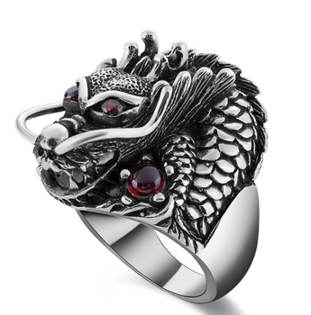 Brand antique dragon men's ring