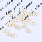 Shell Beads Shell Pearls For Jewellery Making 10mm 12mm Natural Flower Daisy Charm Mother Of Pearl Shell Beads For Making Jewellery