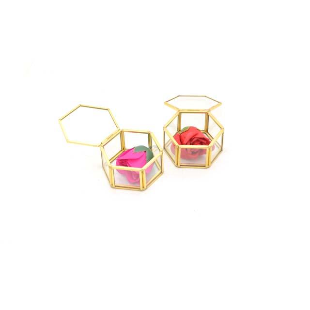 baby jewelry box display organizer hexagon glass display case
